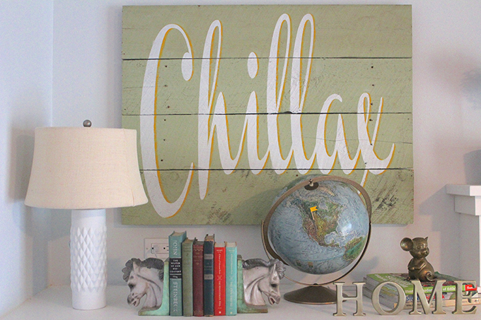 Chillax sign