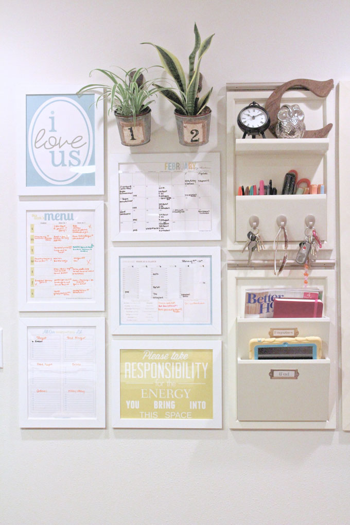 Home Organization Calendar System : Command center cost breakdown the caldwell project