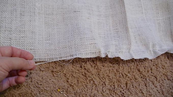 Ruffled Burlap Curtain Tutorial | The Caldwell Project